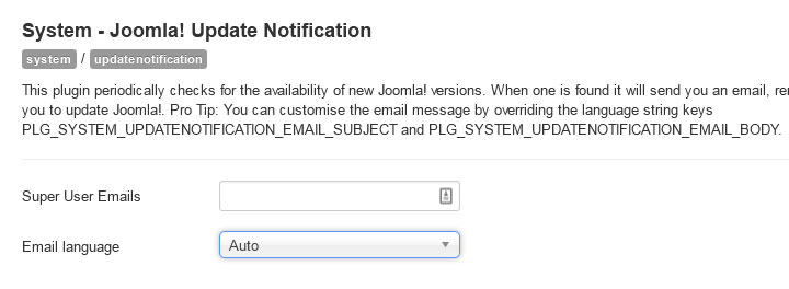 joomla35 updatenotify